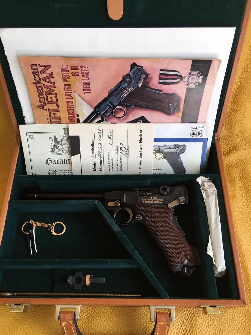 Luger P08 Kaiserliche Marine  9mm NIB unfired