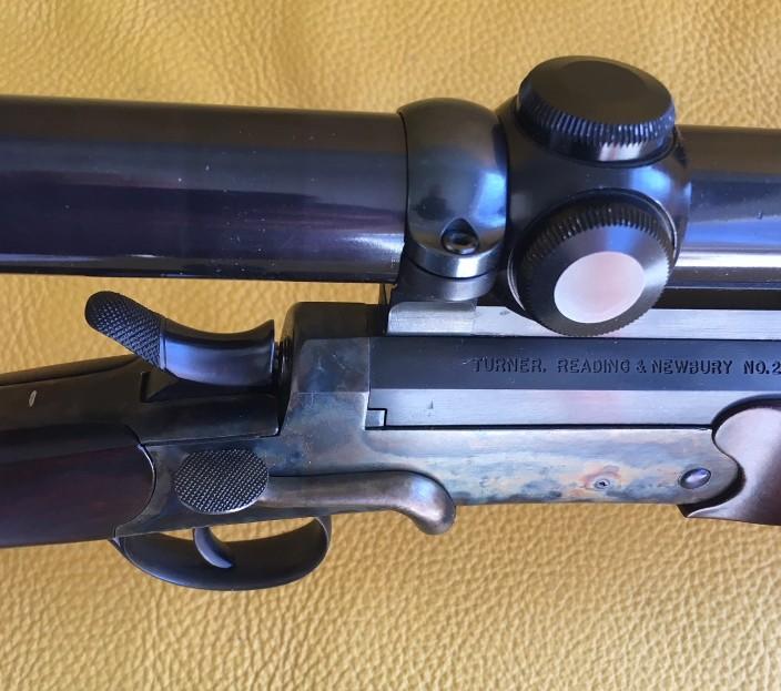 Turner , Reading and Newbury, side lever single shot 22 Hornet