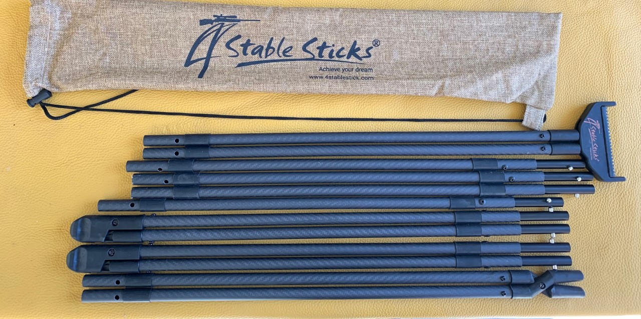 New and Improved 4StableSticks® Carbon shooting stick